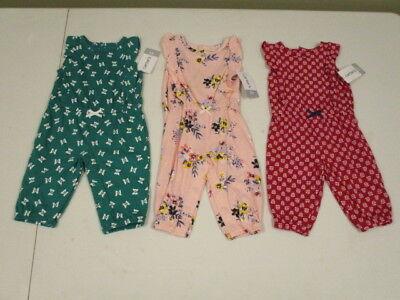 NWT Carters Infant Girl Romper Spring Summer Newborn Jumpsuit Size 3 Months Carters Newborn Girls Jumpsuit