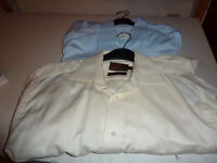 two mens size 38cm long sleeve plain shirts
