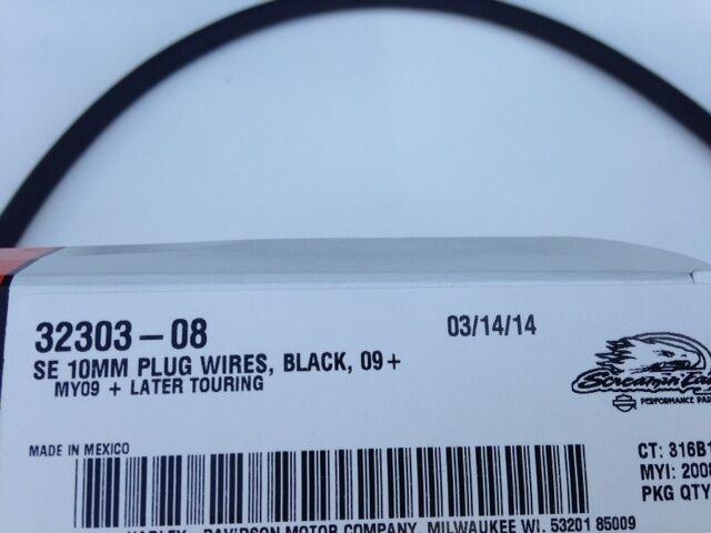 HARLEY TOURING 09+ screamin eagle 10mm BLACK spark plug wires 32303 ...