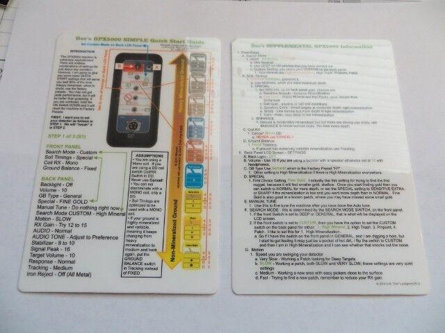 Doc's Minelab GPX 4800 - GPX 5000 SIMPLE Quick Start Guide - Minelab Detectors