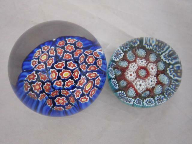 Paperweights Lot of Two Red,White Blue, Yellow Cones Green Red White cones.