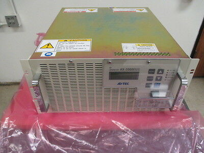 Adtec RF Generator, AX-2000EUII, AX-2000EU2-N, Plasma Technology, 2000W, 400679