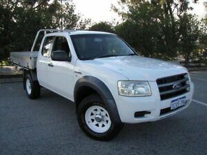 2008 Ford Ranger PJ XL Super Cab 4x2 Hi-Rider White 5 Speed Manual Utility