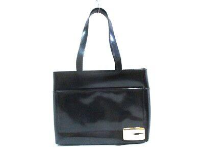 Authentic GUCCI Black Gold Hardware Leather Shoulder Bag