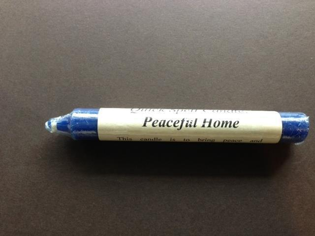 PEACEFUL HOME Quick Ritual Spell Candle!