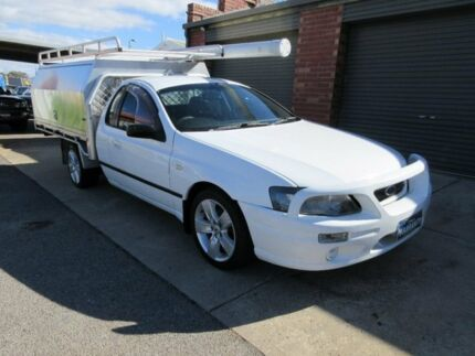 2008 Ford Falcon BF MkII XL (LPG) White 4 Speed Auto Seq Sportshift Cab Chassis