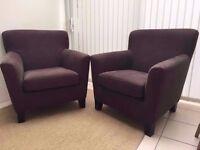 Ikea EKENAS HENSTA - Armchairs x 2 for £200 (retail price £175 each)