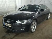 breaking audi a5 s5 2.0tdi 3.0tfsi front end bumper headlights black wing leather interior bonnet