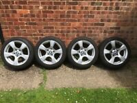 """17"""" Alloys BMW, with near new tyres. 8Jx17 EH2+….SOLD"""