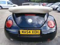 54 VOLKSWAGON BEETLE 2.0S AUTOMATIC CONVERTIBLE 73K BLACK/SAND LTHR HEATED SEATS
