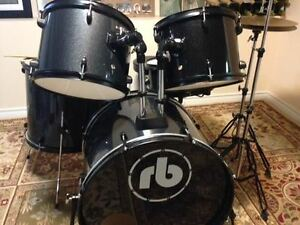 RB Drum Set Like New, Metallic grey sparkle with black accents