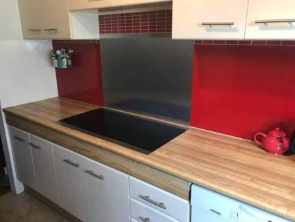 Bright Red Kitchen Splashback (dismantled and ready for pickup)