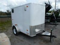 USED 2014 5 X 8 ENCLOSED PACE TRAILER- like new
