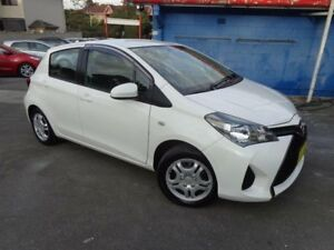 2015 Toyota Yaris NCP130R MY15 Ascent White 4 Speed Automatic Hatchback Sylvania Sutherland Area Preview