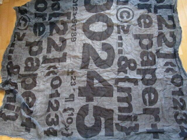 RUNDHOLZ BLACK LABEL Lagenlook Tuch mit Print Blau Grau, WIE NEU!!!