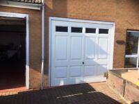 Garage doors - matching pair, in white
