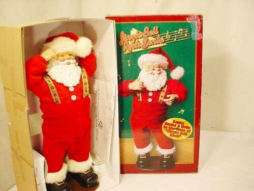 Vtg 1998 Jingle Bell Rock Dancing Santa Claus Animated Musical EUC In Box FrShip