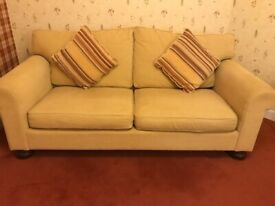 Beautiful Fabric Covered Sofa and 1 Chair