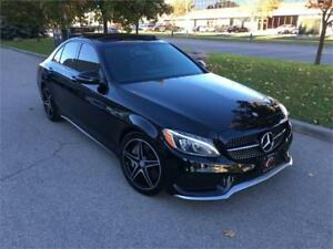 2016 MERCEDES BENZ C450 AMG 49K NAVI CAMERA SUEDE LEATHER PANO