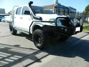 2011 Toyota Hilux KUN26R MY12 Workmate (4x4) White 5 Speed Manual Dual Cab Pick-up Williamstown North Hobsons Bay Area Preview