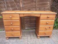 Solid Pine Dressing Table / Desk
