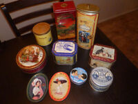 Vintage replica tins. Great for storage. $10 each or volume disc
