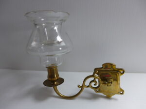 Brass Wall Scone Candle