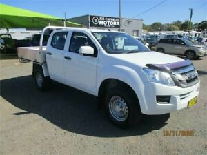 2016 Isuzu D-MAX TF MY15 SX (4x4) White 5 Speed Automatic Crew Cab Chassis Heatherbrae Port Stephens Area Preview