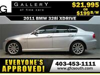 2011 BMW 328i X-DRIVE  *EVERYONE APPROVED* $0 DOWN $199/BW!