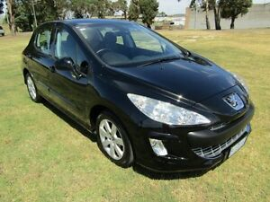 2009 Peugeot 308 XSE Turbo Black 4 Speed Automatic Hatchback Invermay Launceston Area Preview