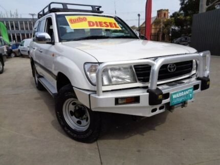 2000 Toyota Landcruiser HZJ105R GXL White 5 Speed Manual Wagon Enfield Port Adelaide Area Preview