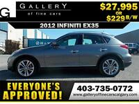 2012 Infiniti EX35 AWD $229 Bi-Weekly APPLY NOW DRIVE NOW