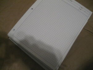 graph paper, 50 sheets per pack. 8.5x11 inches.