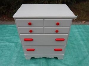 "now $40. Vintage solid wood Chest of Drawers - 25 1/4"" x 16 1/2"""