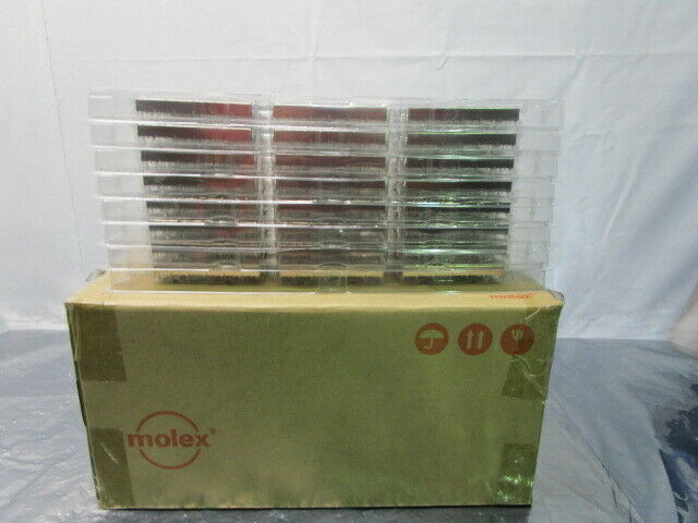 1 Lot of 48 Molex 0747540620 SFP + 1X6 Ganged Cage for Light Pipes, 101911