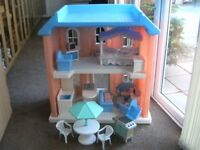 little tikes large dolls house with furniture