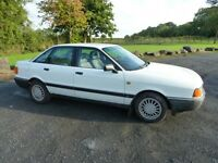 1989 AUDI 1.8S - ONE OWNER CAR - FULL MOT -LOVELY CAR - ONLY 104K---