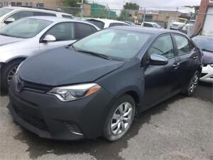 2015 TOYOTA COROLLA AUTOMATIQUE CAMERA AIRBAGS OUT