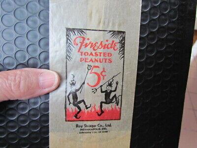 1930s Handbags and Purses Fashion Vintage 1920's/1930's Roy Stringer Co. Glassine Fireside Toasted Peanuts Bag  $24.99 AT vintagedancer.com