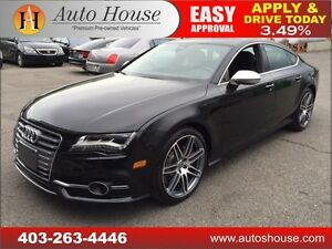 2013 Audi S7 NAV, BCAM, HEATED SEATS, ROOF AWD  90 DAYS NO PYMT!