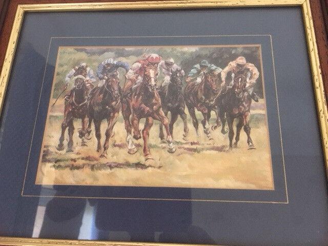 Racehorses print