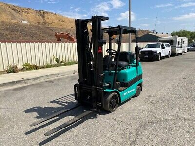 Mitsubishi Forklift Fgc25k 5000 Lbs Capacity 3 Mast Side Shift Ex Ca City