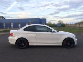 "WHITE BMW 1 SERIES COUPE - 18"" ALLOYS FULL BLACK LEATHER"