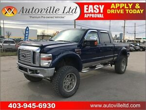 2010 FORD F350 FX4 LEATHER 10 INCH LIFT RIMS 4X4 CHIPPED!!!