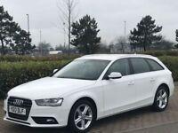 AUDI A4 AVANT 2.0 TDI AVANT QUATTRO SE TECHNIK S/S 5 DOOR AUTO 174 BHP (white) 2013