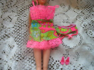 BARBIE DOLL #1821 HOT PINK UNDERLINER TEDDY,GRTR BELT,SHOES,HOSE