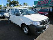 2013 Toyota Hilux TGN16R MY12 Workmate Double Cab 4x2 White 5 Speed Manual Utility Mount Gravatt Brisbane South East Preview