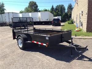 (2016) 5x10 SINGLE AXLE STEEL SIDE UTILITY TRAILER