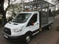 Ford Transit ELW Cage Dropside L4 125BHP with flashing beacon and tow bar/ step
