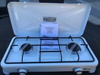 Camping Cooker Gas Stove New Unused White Enamel 2 Burners